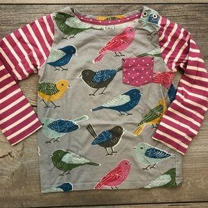 MINI BODEN 2 to 3 bird long sleeve pocket shirt